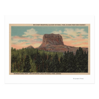 Babb, MT - View of Big Chief Mountain from Hwy Postcard