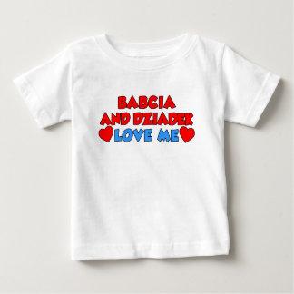 Babcia And Dziadek Love Me Baby T-Shirt