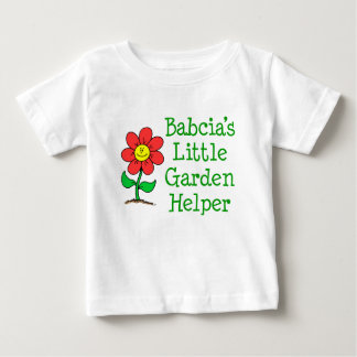 Babcia's Little Garden Helper Baby T-Shirt