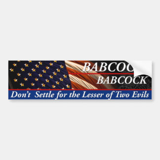 Babcock Babcock for President Bumper Sticker