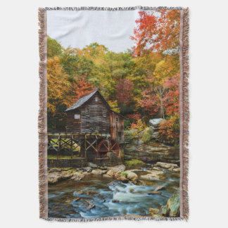 Babcock State Park mill in fall  on throw