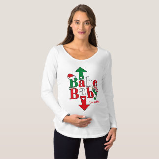 Babe Baby Christmas Maternity T-Shirt