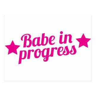 babe in progress post card