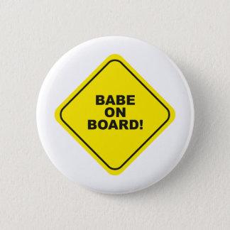 babe on board 2 inch round button