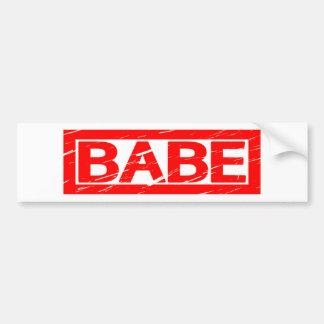 Babe Stamp Bumper Sticker