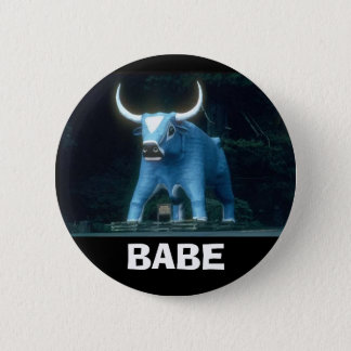 Babe the Blue Ox 2 Inch Round Button