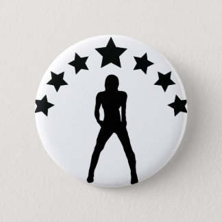 babe with stars icon 2 inch round button
