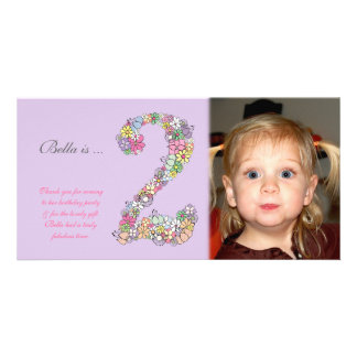Babies 2nd Birthday Thank You Photo Card