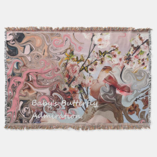 Babies Butterfly Admiration. Throw Blanket