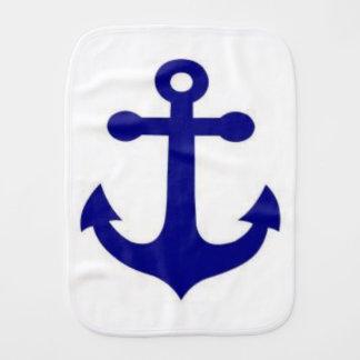 Babies cute nautical wear burp cloth
