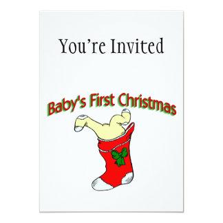 "Babies First Christmas 5"" X 7"" Invitation Card"