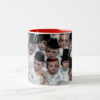 Babies in Newspaper Two-Tone Coffee Mug