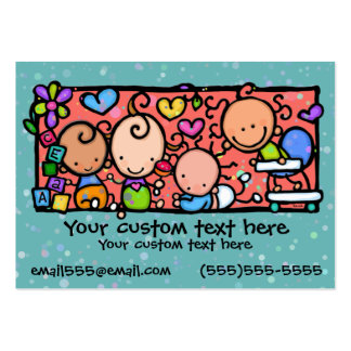 Babies Toddlers Daycare Nursery TEAL Business Cards