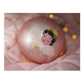 Babiole rose démodée de Noël Carte Postale