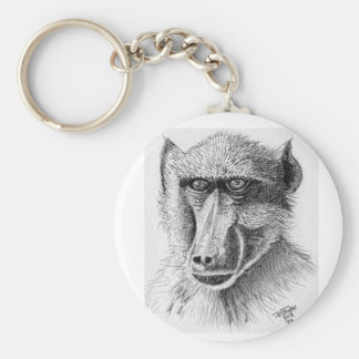Baboon 5.7 cm Basic Button Key Ring