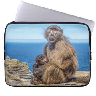 Baboon & Baby Laptop Sleeve