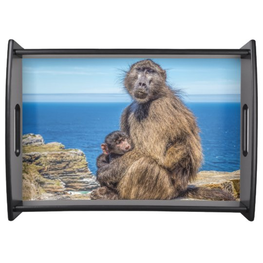 Baboon & Baby Serving Tray