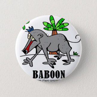 Baboon by Lorenzo 2 Inch Round Button