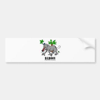 Baboon by Lorenzo Bumper Sticker