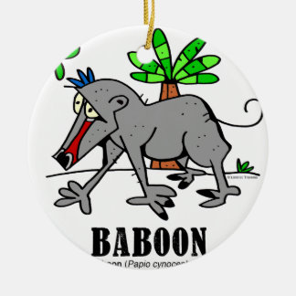Baboon by Lorenzo Ceramic Ornament