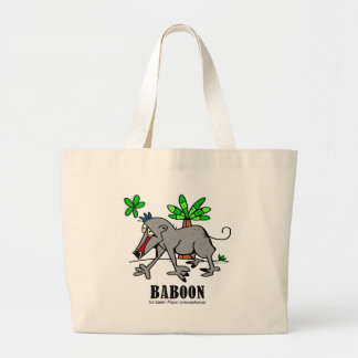 Baboon by Lorenzo Large Tote Bag