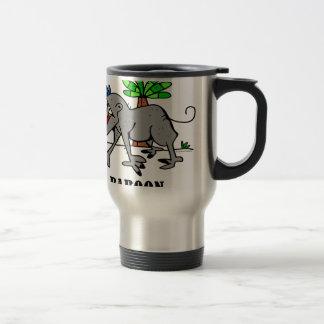 Baboon by Lorenzo Travel Mug