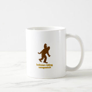 Baboon Riding Sasquatch Coffee Mug