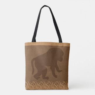 Baboon   Safari   Jungle Theme Tote Bag