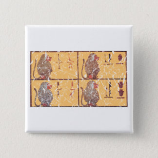 baboons 2 inch square button