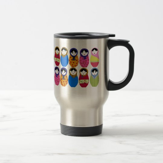 Babushka Doll Travel Mug