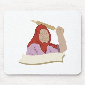Babushka Grandma Mouse Pad