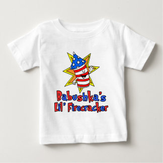 Babushka's Little Firecracker Baby T-Shirt