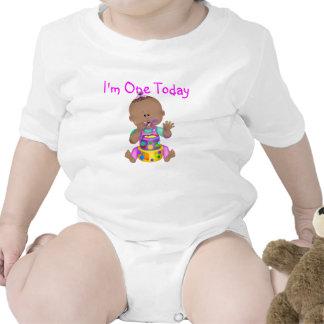 Baby 1st Birthday African American GIRL Tshirt