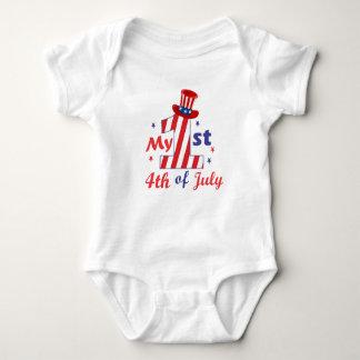 Baby 1st Birthday Patriotic 4th of July Bodysuit