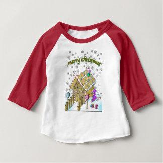 Baby 3/4 Sleeve Raglan T-Shirt, Merry Christmas Baby T-Shirt