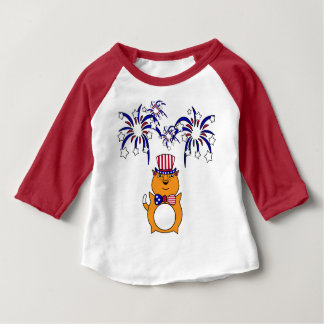 Baby 4th of July Happy Cat Shirt