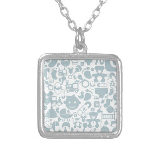 Baby a background2 silver plated necklace