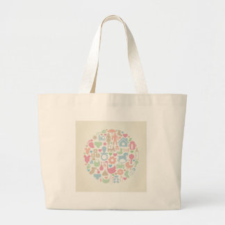 Baby a sphere large tote bag