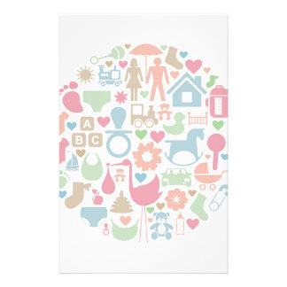 Baby a sphere stationery