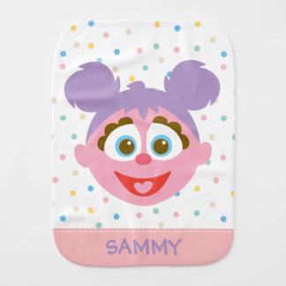 Baby Abby Cadabby Big Face | Add Your Name Burp Cloth