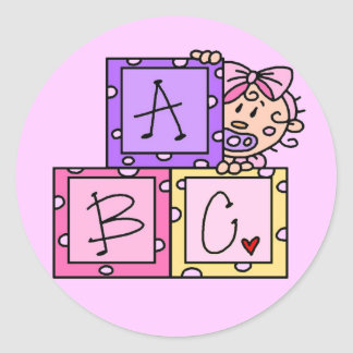 Baby ABC Tshirts and Gifts Classic Round Sticker