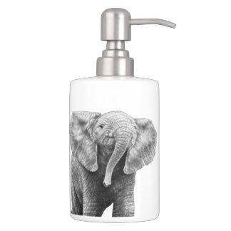 Baby African Elephant Bath Accessory Set