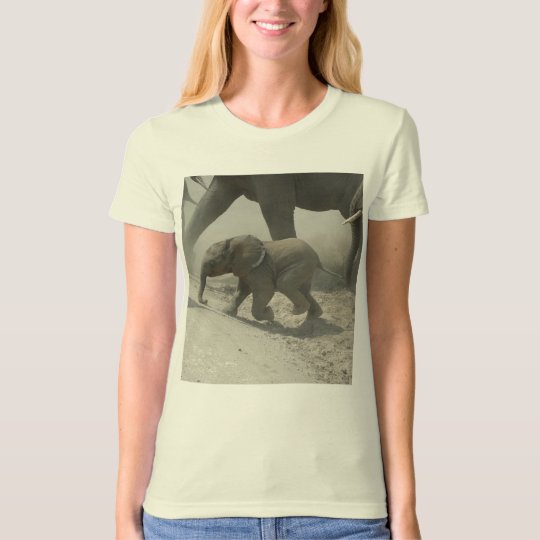 Baby African Elephant Crossing T-Shirt