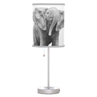 Baby African Elephant Desk Lamps