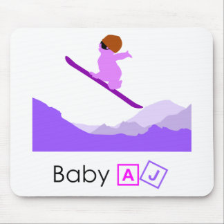 Baby AJ Boarder Mouse Pad