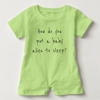 Baby Alien cute joke jumper Baby Romper