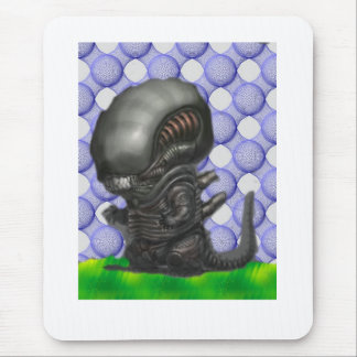 baby alien mouse pad