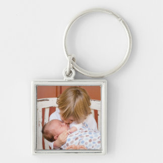 Baby and Big Sister Key Chain