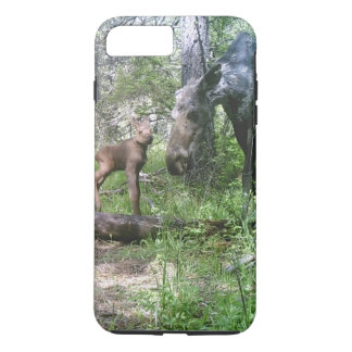 Baby and mother moose iPhone 7 plus case