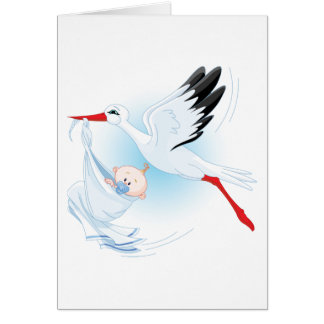 Baby and Stork Card